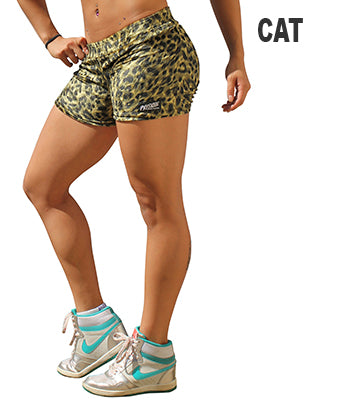Women's Physique Bodyware - Animal Print Workout Shorts - Big Cat Skin