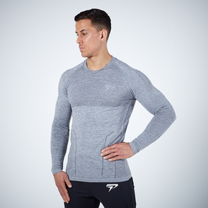 Physiq Apparel - HyperKnit 2.0 Long Sleeve Shirt - Grey