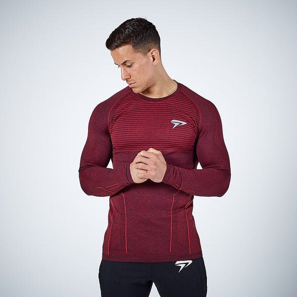 Physiq Apparel - HyperKnit 2.0 Long Sleeve Shirt - Port Red
