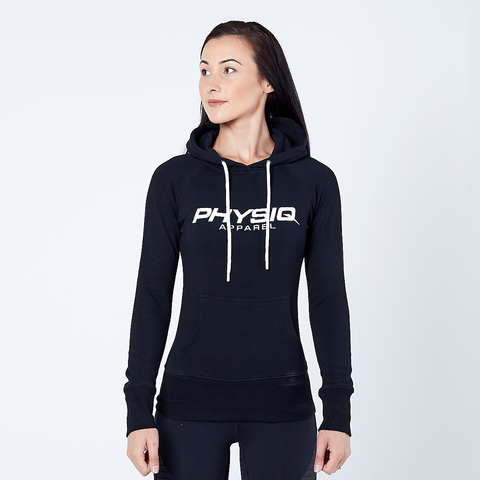Women's Physiq Apparel - CoreFleece Pullover Hoodie - Black,Fuchsia, Purple or Teal