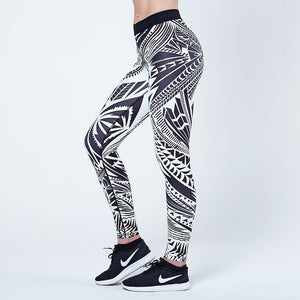 Physiq Apparel - Neolite Leggings - Black/White - Tattoo
