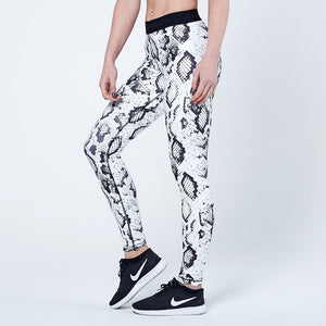 Physiq Apparel - Neolite Leggings - Black/White - Snake Skin