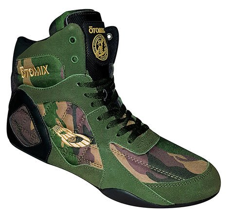 Otomix - Ninja Warrior Weight Lifting Shoes - High Tops - Green Camo