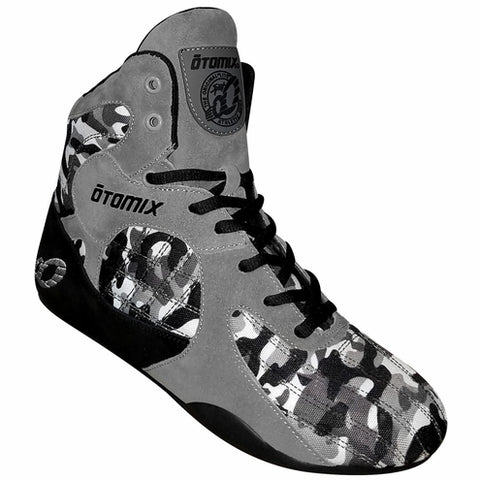 Otomix - Commando Stingray Weight Lifting Shoes - High Tops - Black/Grey Camo