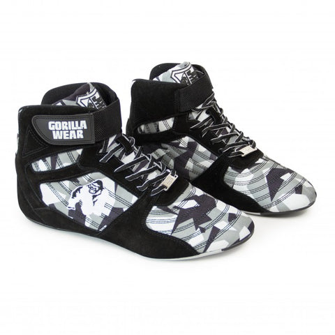 Gorilla Wear - Weight Lifting Shoes - Perry High Tops - Black/Gray Camo