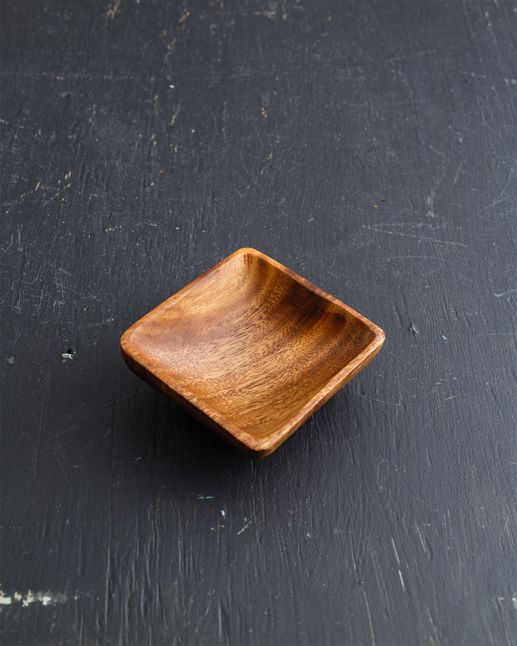 Square Wood Sauce Dish - Fishs Eddy