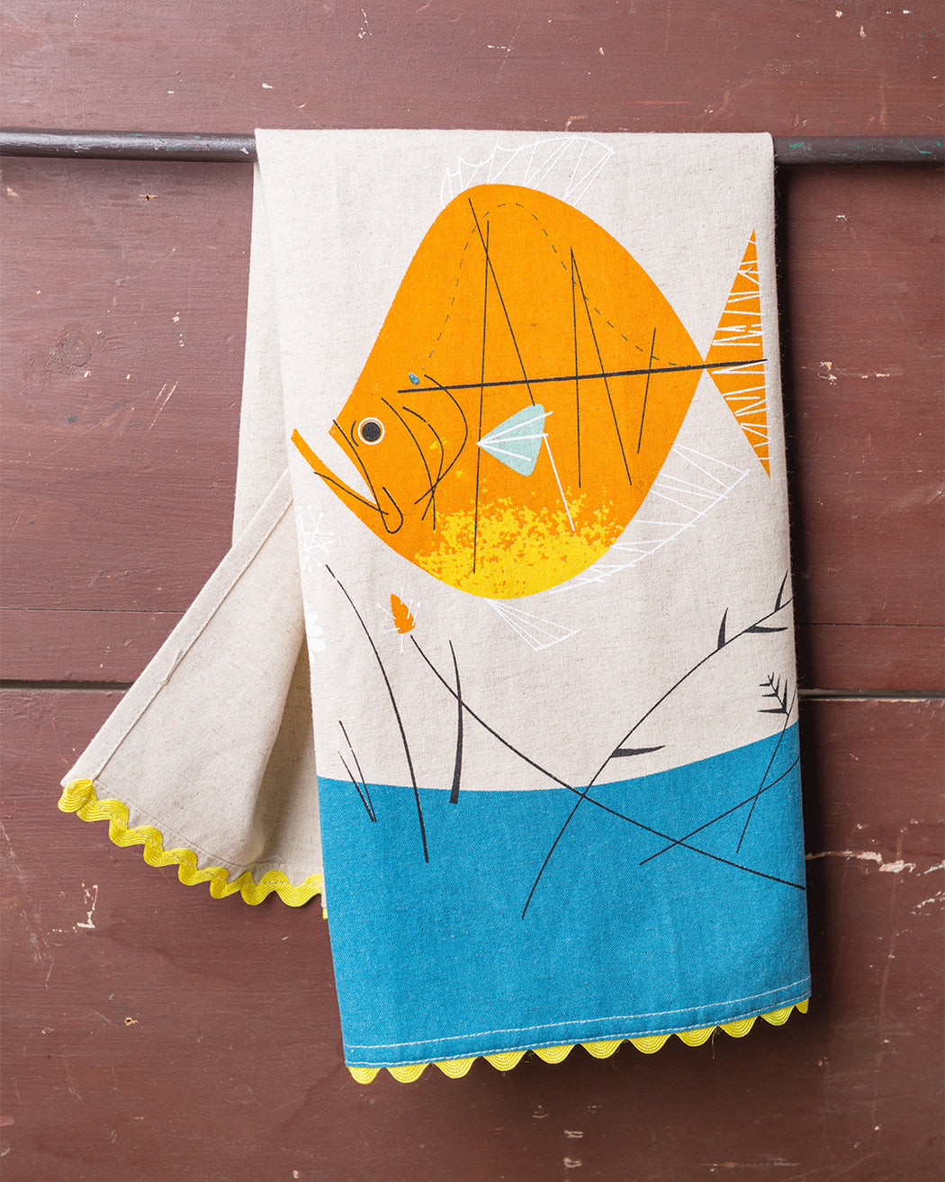 Fish & Flowers Dish Towel - Fishs Eddy