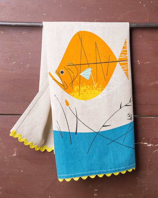 Fish & Flowers Dish Towel