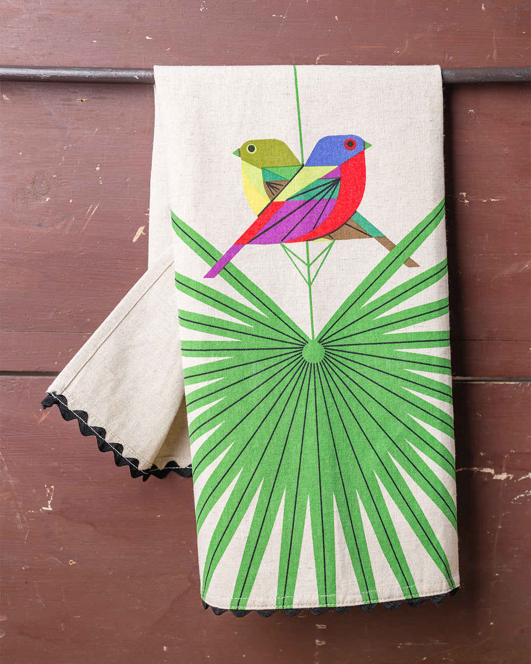 Flamboyant Feathers Dish Towel - Fishs Eddy