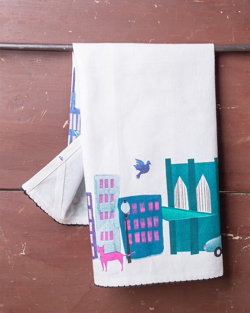Collage City Dish Towel