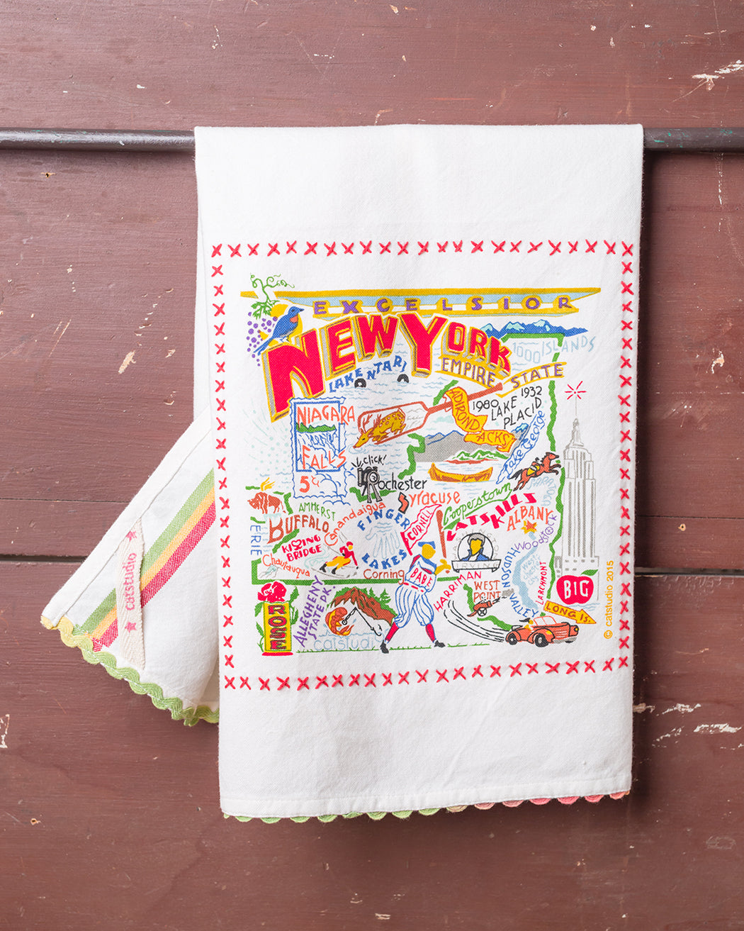 New York State Souvenir Dish Towel - Fishs Eddy