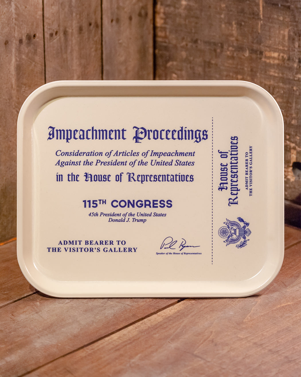 Impeachment Tray - Fishs Eddy