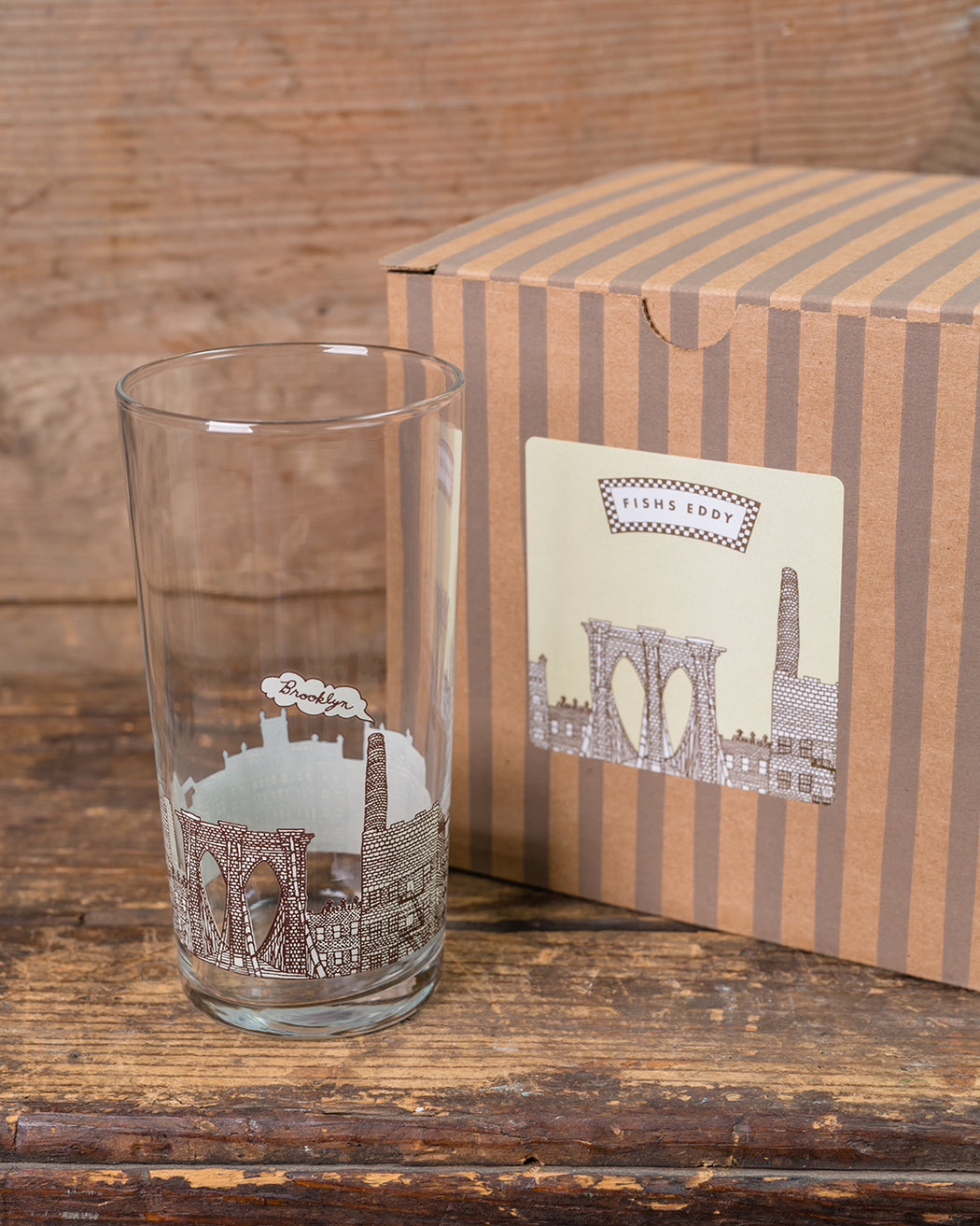 Brooklyn Glasses Gift Box - Set of 4 - Fishs Eddy
