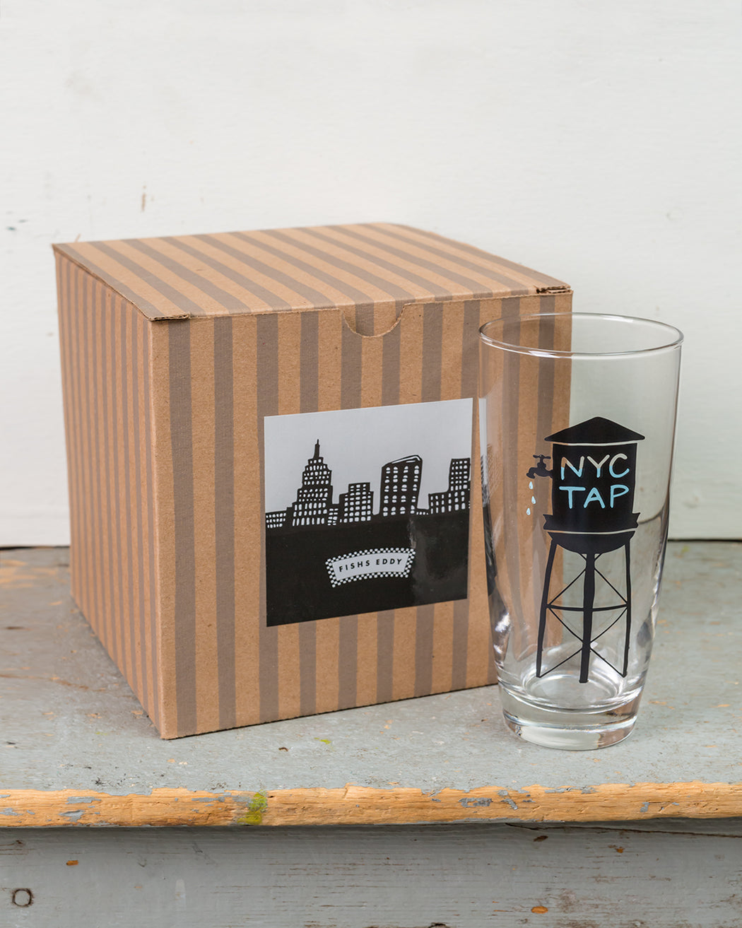 NYC Tap Water Glasses Gift Box - Set of 4 - Fishs Eddy