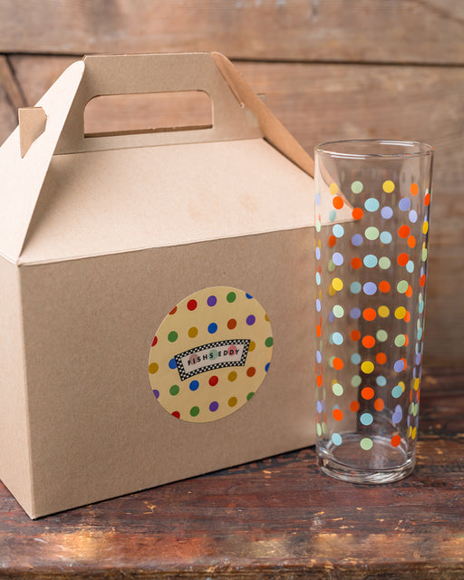 Polka Dot Glasses Gift Box - Set of 4