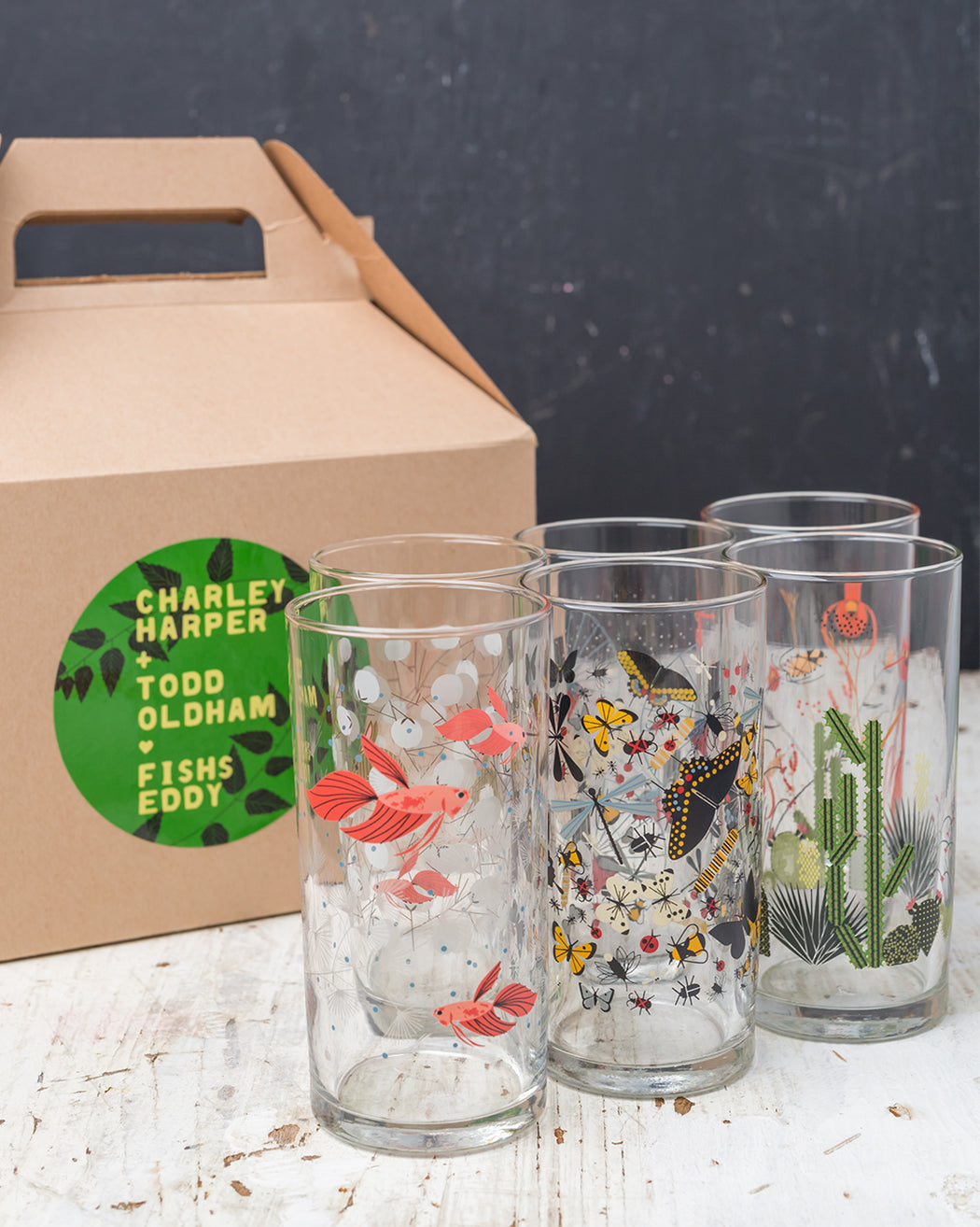 Harper + Oldham Wine Glasses Gift Box - Set of 6 - Fishs Eddy