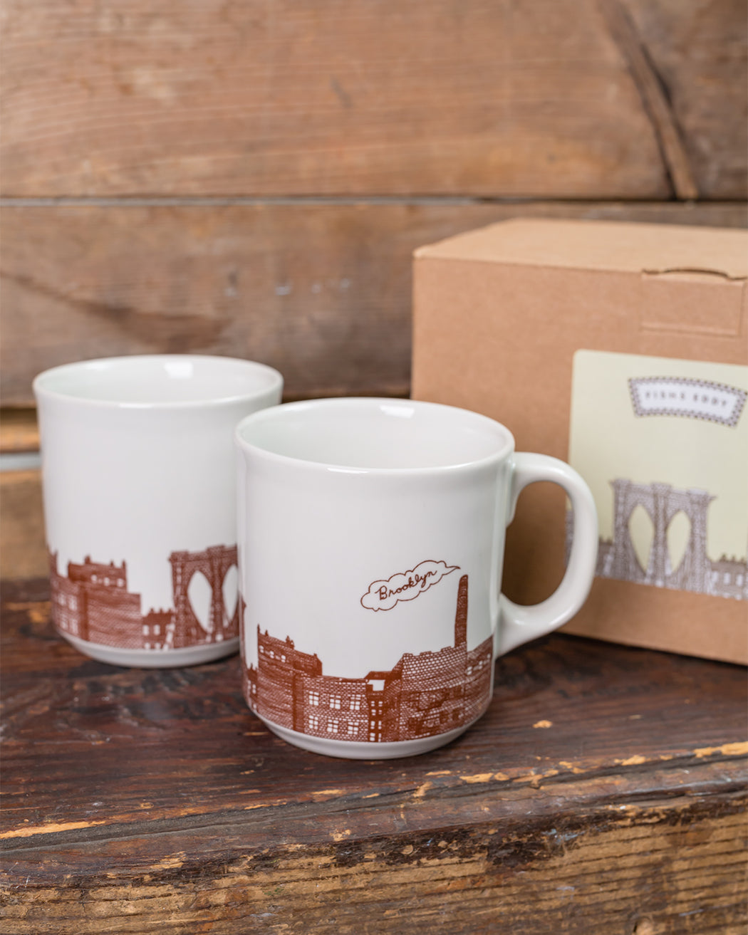 Brooklyn Mugs Gift Box - Set of 2 - Fishs Eddy