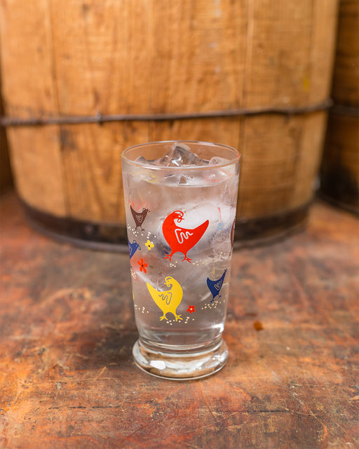 Howdy Hens Glass