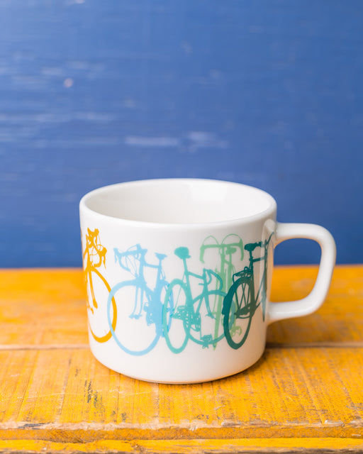 Rainbow Bicycle Mug