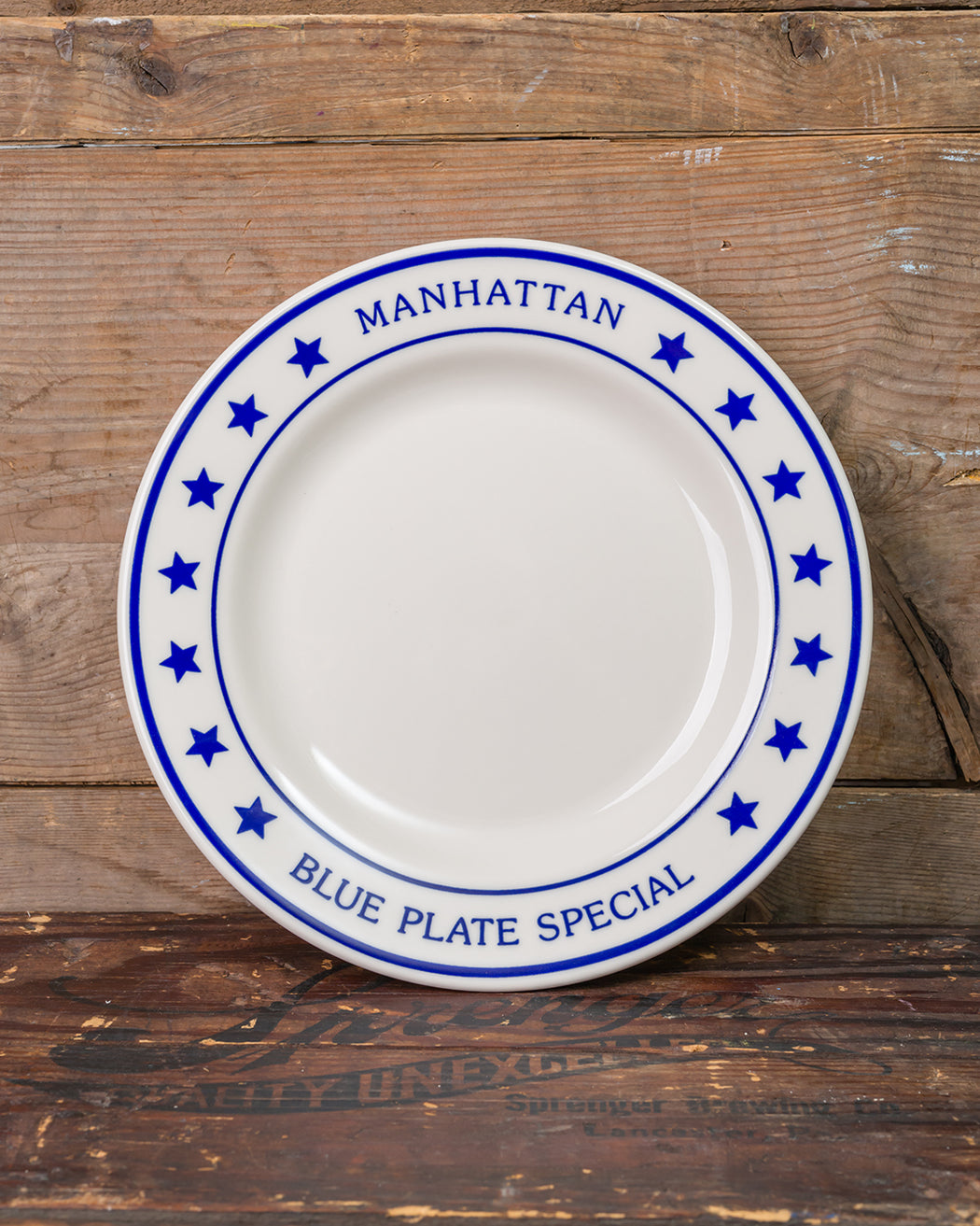 Manhattan Blue Plate Special Dinner Plate - Fishs Eddy ... : dinner plate stands - pezcame.com