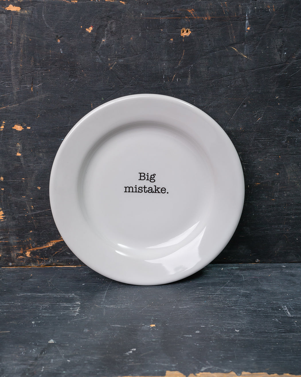 """Big Mistake"" Side Plate - Fishs Eddy"