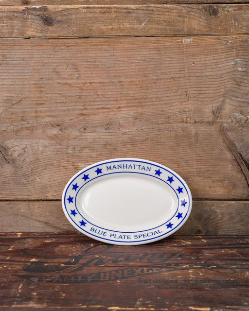 Manhattan Blue Plate Special Mini Oval Tray