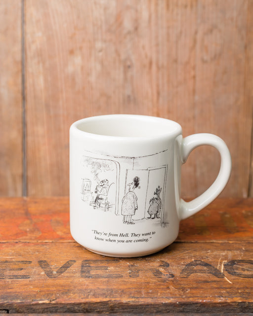 """They're from Hell"" Cartoon Mug"