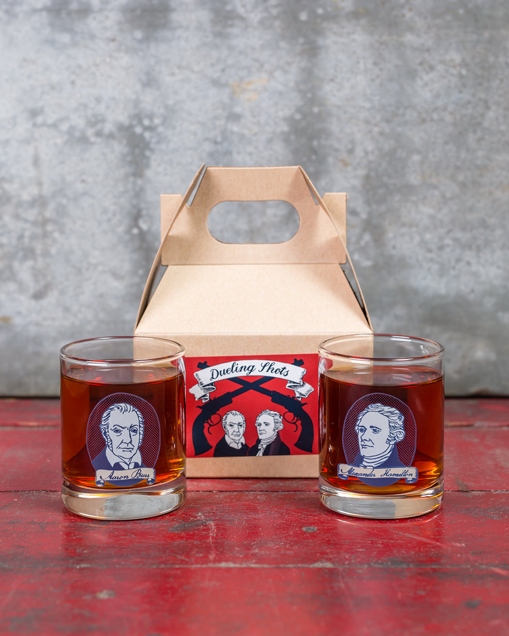 Dueling Shots Gift Box - Hamilton and Burr - Fishs Eddy