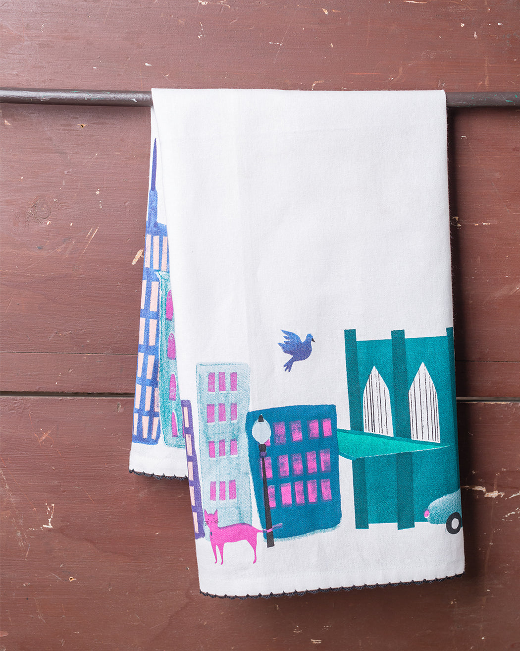 Collage City Dish Towel - Fishs Eddy