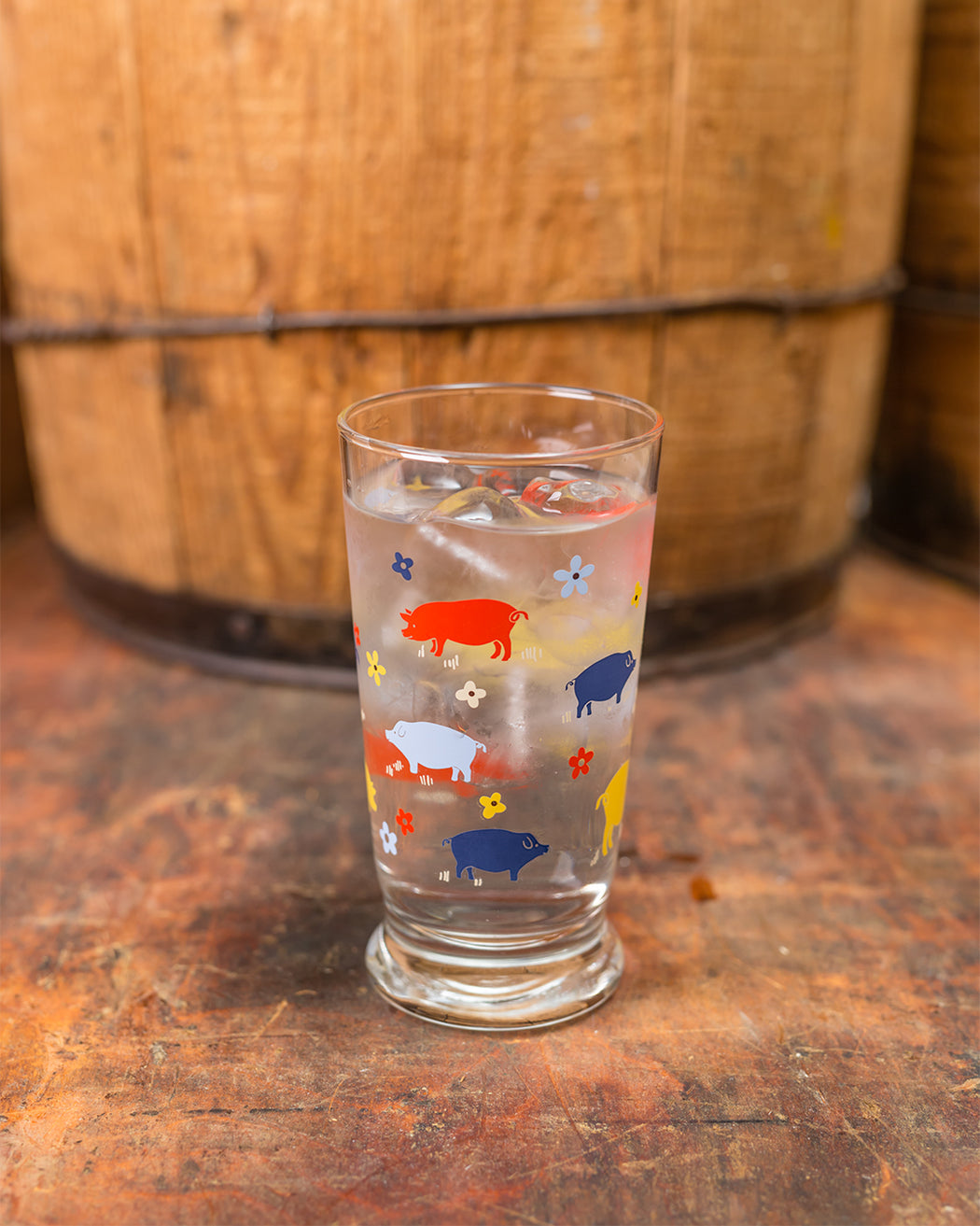 Howdy Pigs Glass - Fishs Eddy