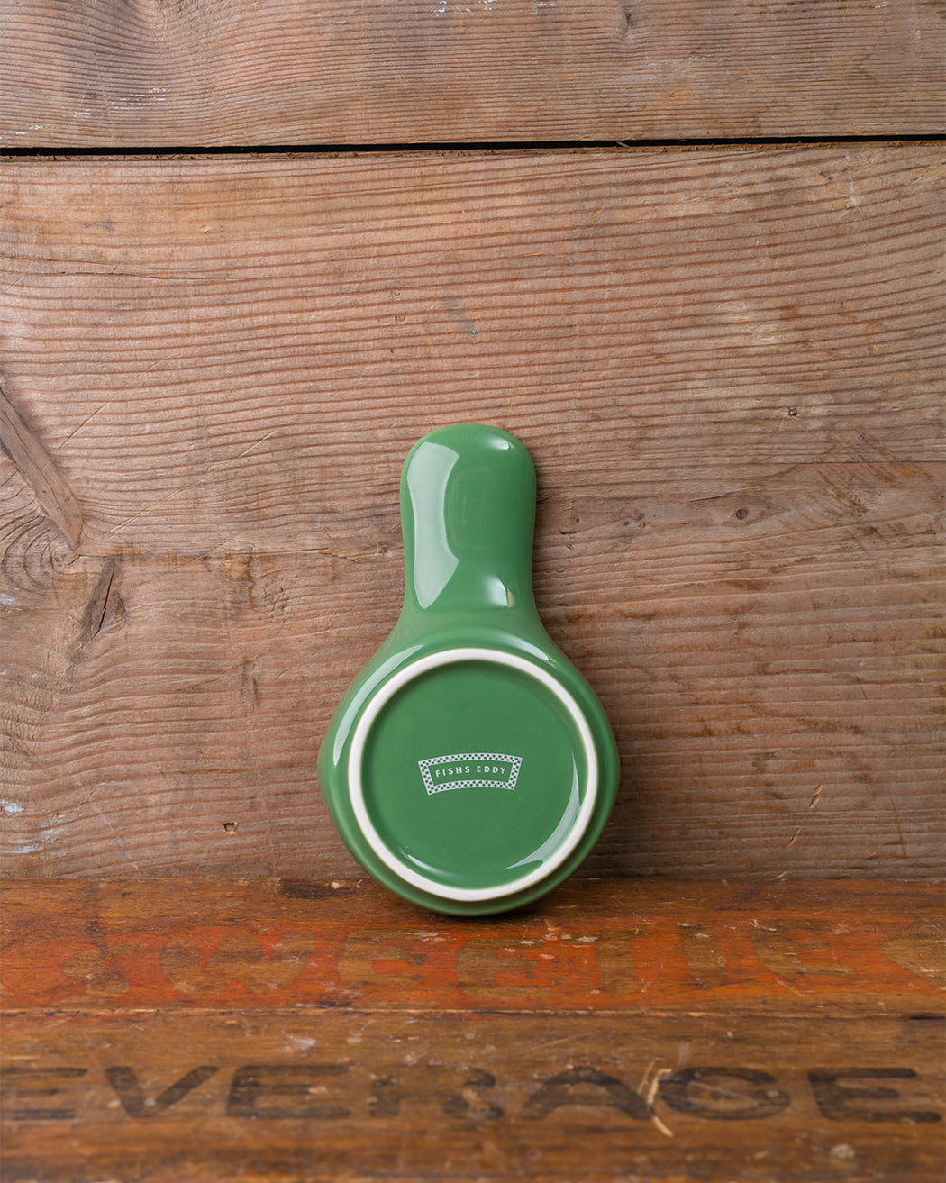 Vintage Green Spoon Rest - Fishs Eddy