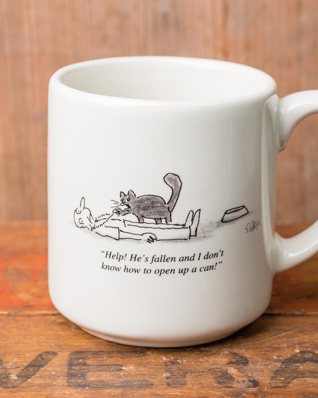 """Help!"" Cartoon Mug - Fishs Eddy"