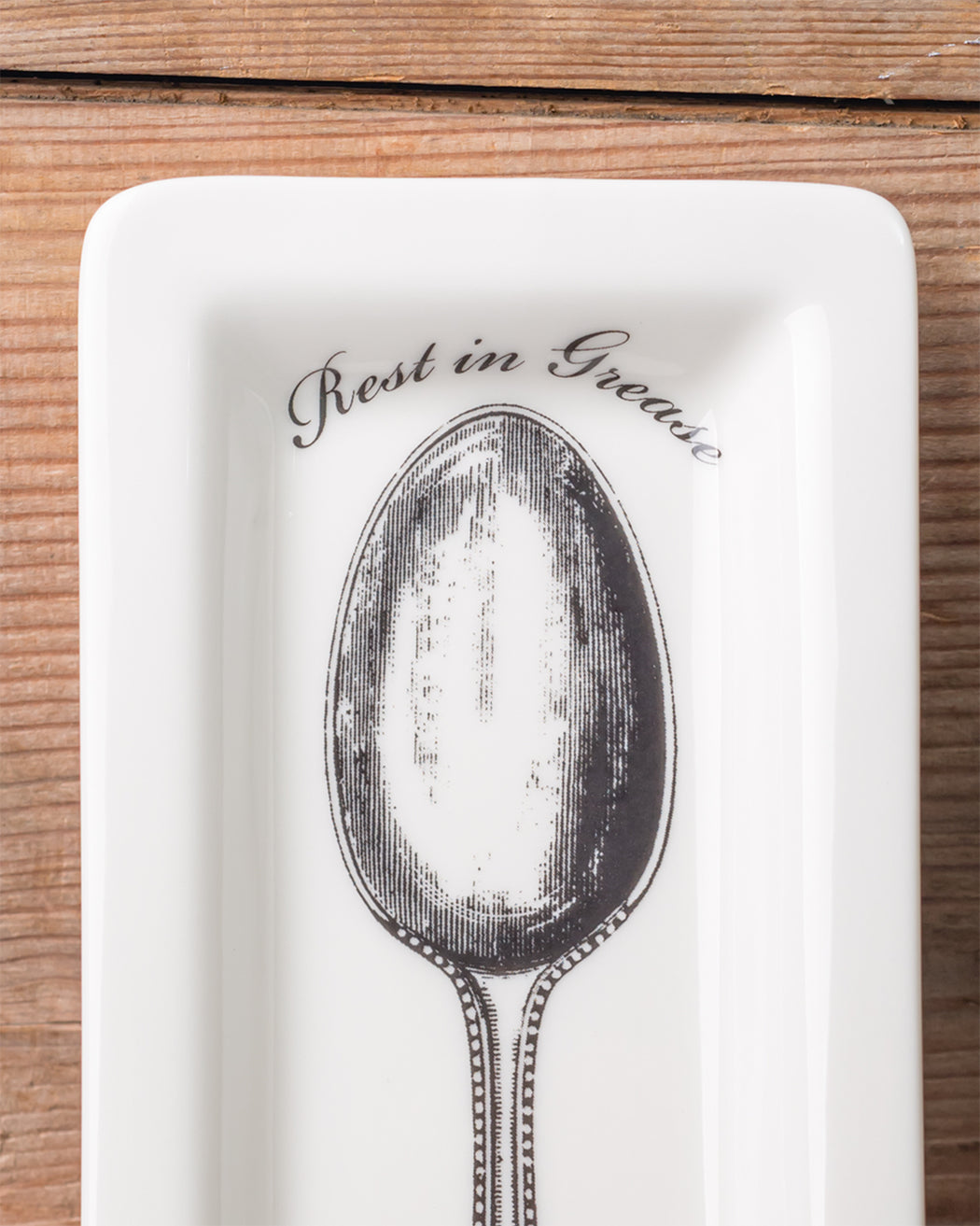 """Rest in Grease"" Spoon Rest - Fishs Eddy"