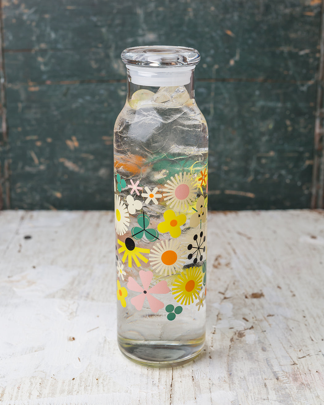 Pop Floral Bottle with Lid - Fishs Eddy