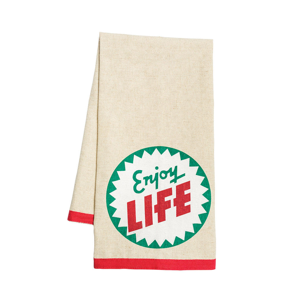 """Enjoy Life"" Dish Towel - Fishs Eddy"
