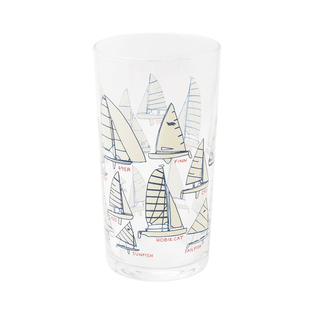 Sailboats Glass - Fishs Eddy