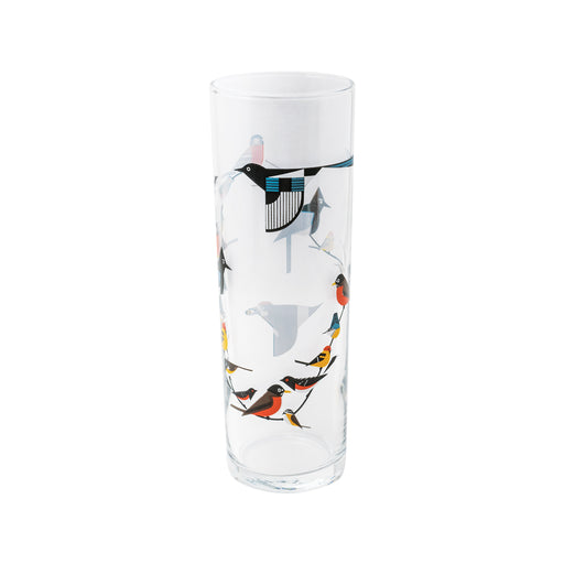 Birds on a Vine Glass