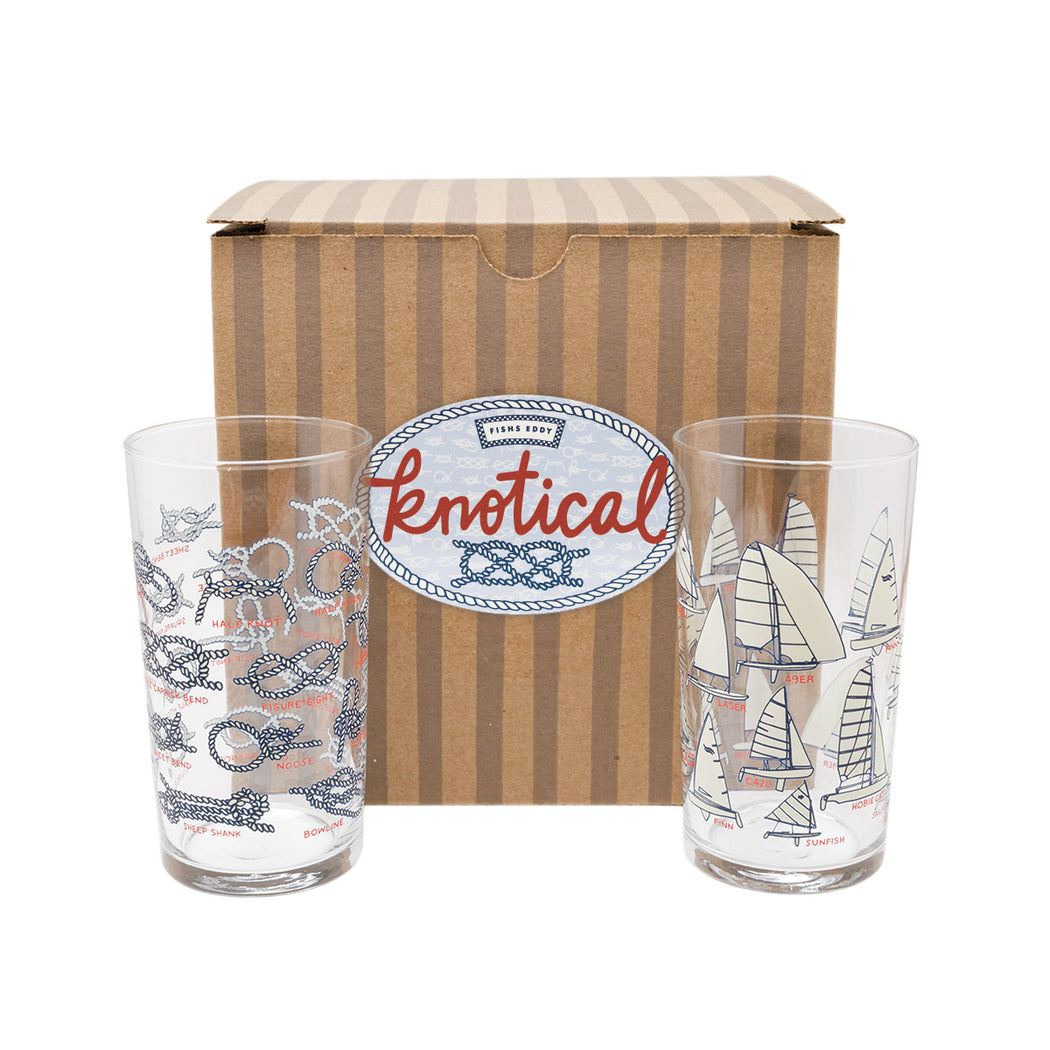 Knotical Glasses Gift Box - Set of 4 - Fishs Eddy