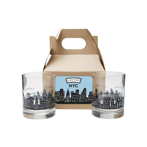 212 Skyline Shot Glasses Gift Box - Set of 2