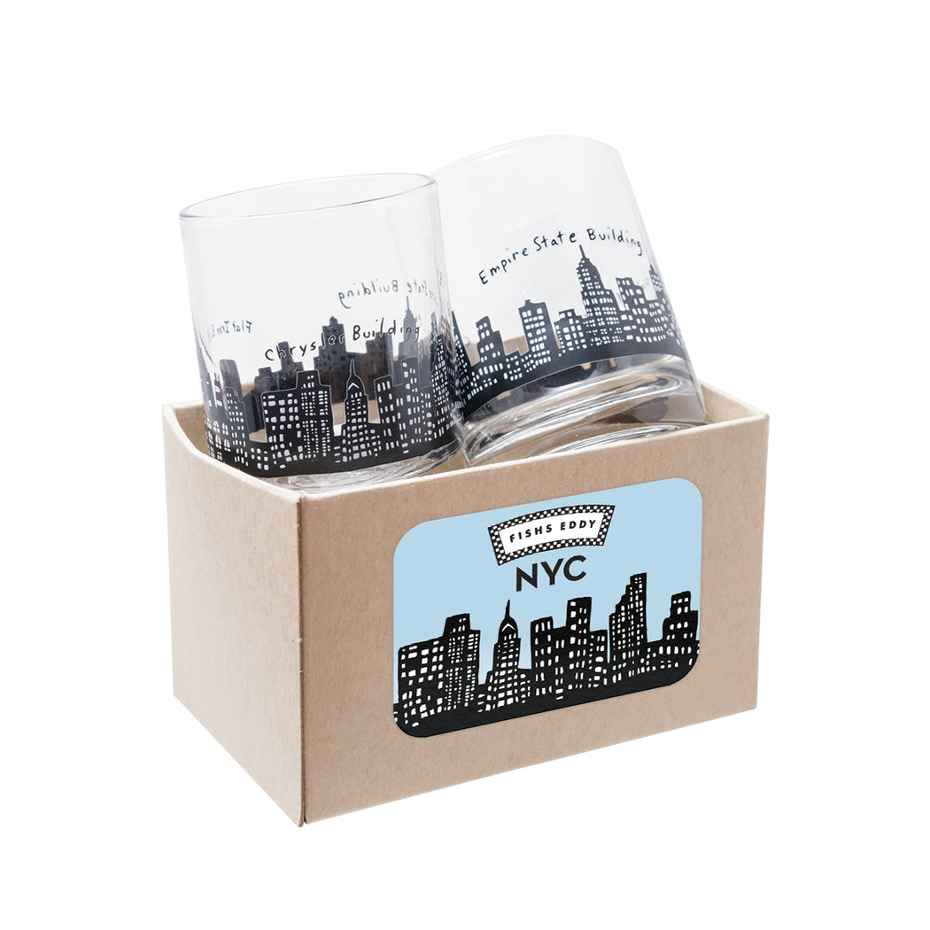 212 Skyline Shot Glasses Gift Box - Set of 2 - Fishs Eddy