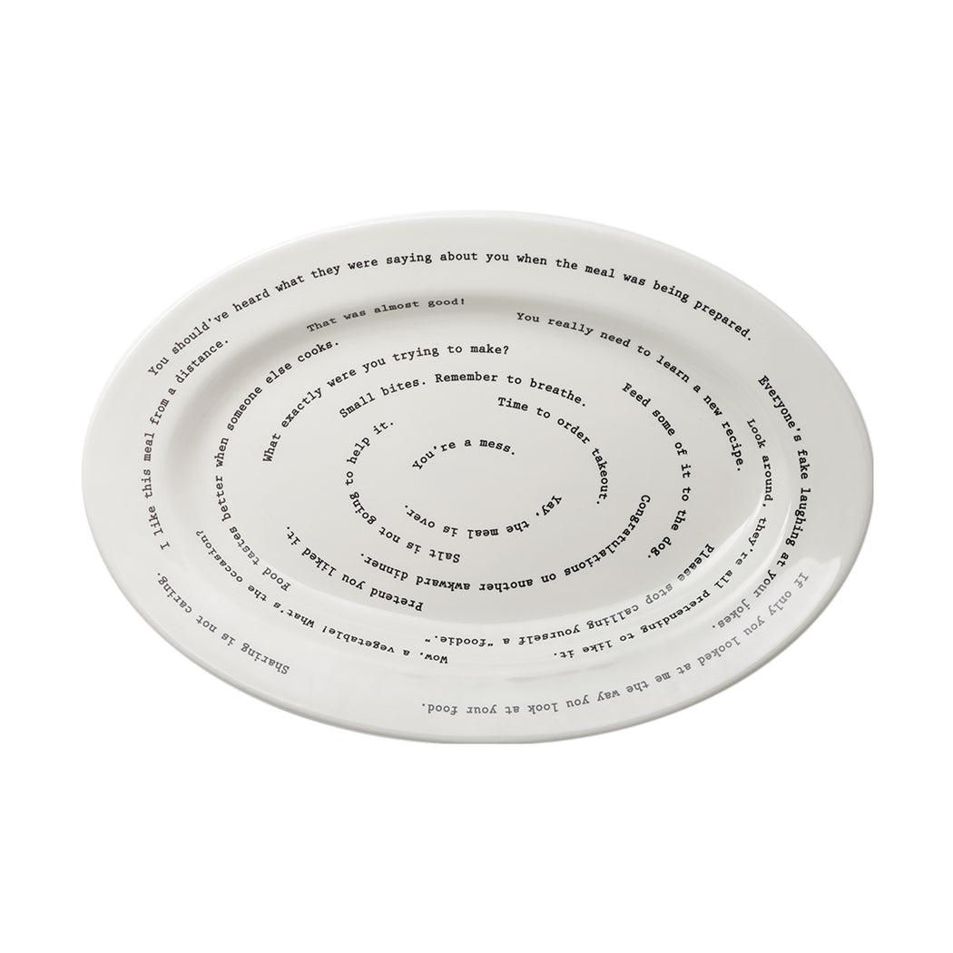 Intervention Oval Platter - Fishs Eddy