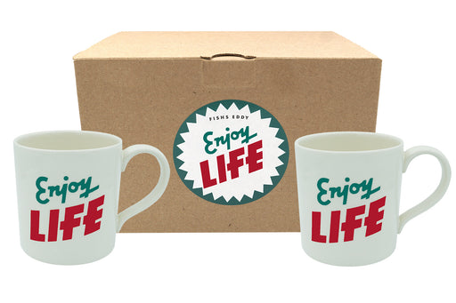 """Enjoy Life"" & ""Have Fun"" Mugs Gift Box - Set of 2"
