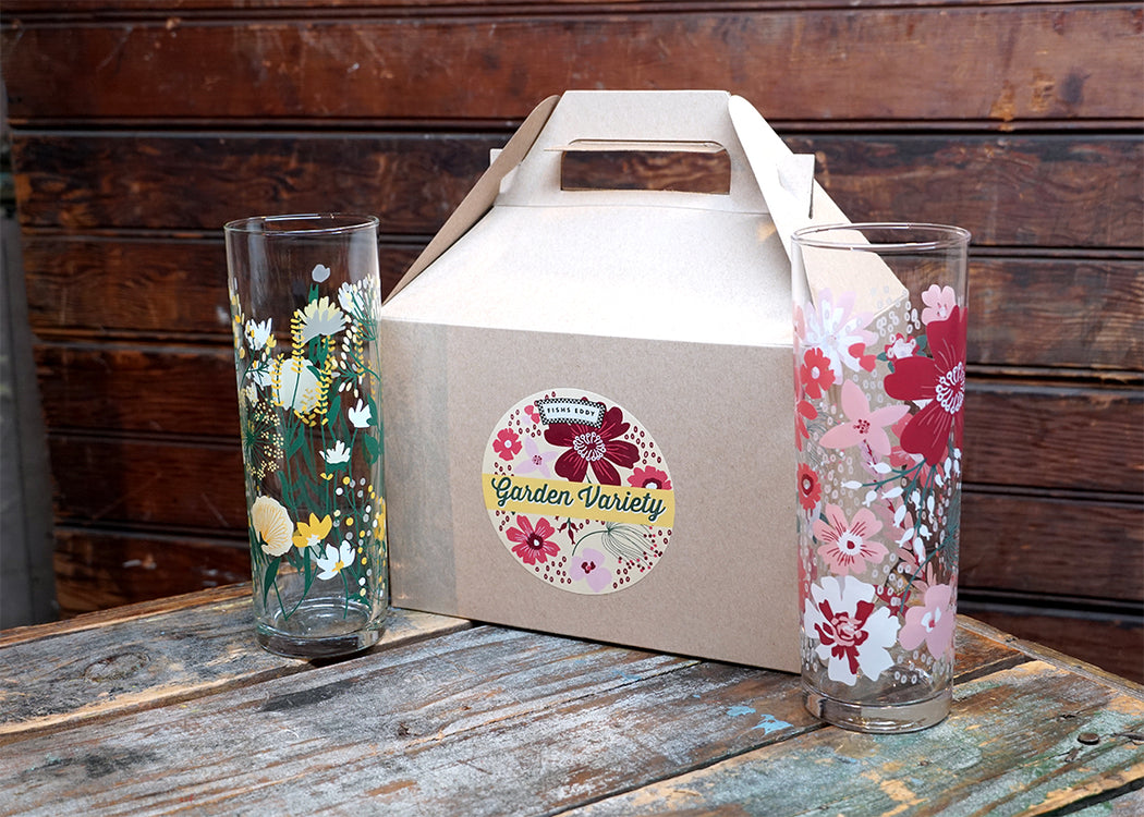 Garden Variety Gift Box - 4 Glasses - Fishs Eddy