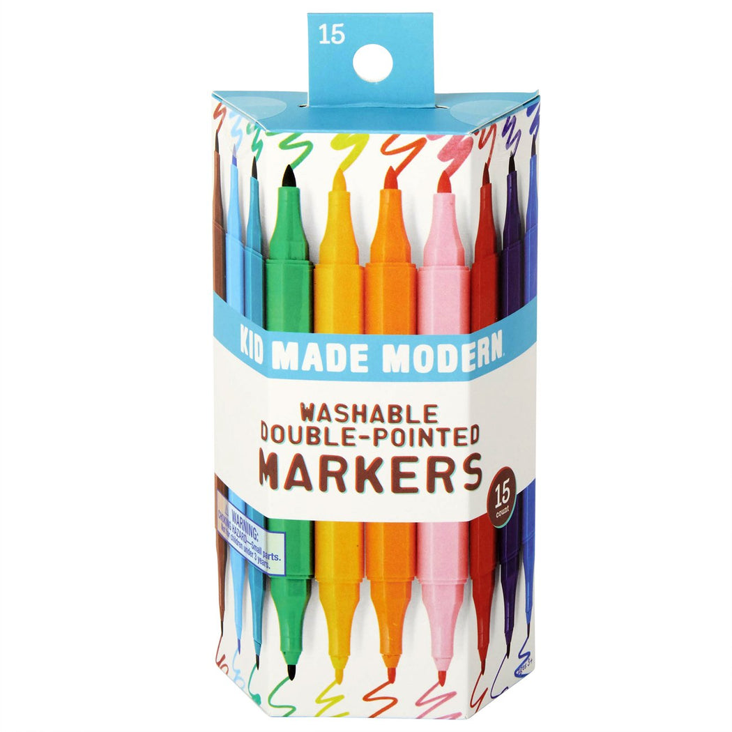 Kid Made Modern Double Pointed Markers - Set of 15 - Fishs Eddy