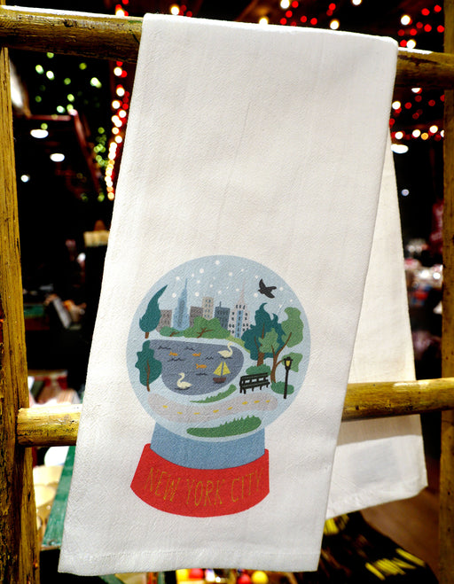 Snow Globe Dish Towel