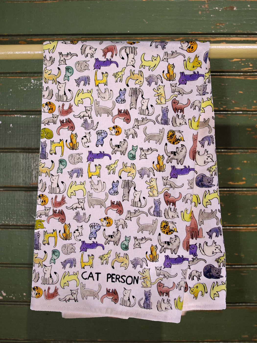 Cat Person Dish Towel - Fishs Eddy