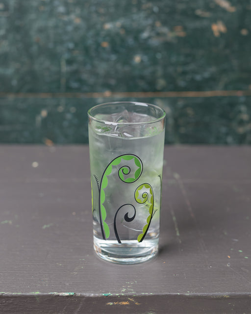 Floral Italian Wine Glass - Fiddlehead