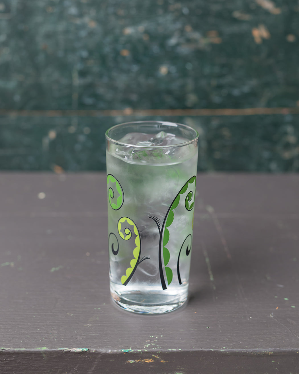 Floral Italian Wine Glass - Fiddlehead - Fishs Eddy