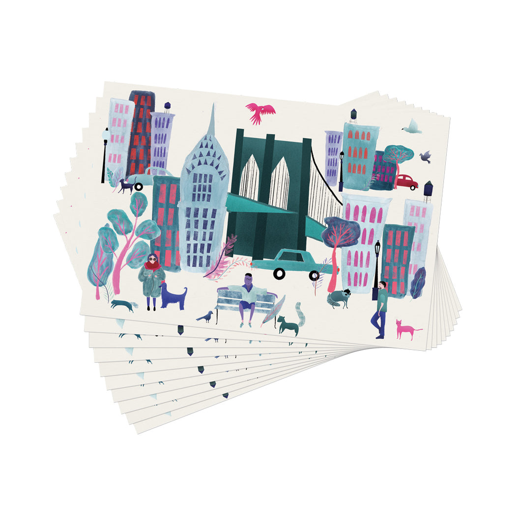 Collage City Paper Placemat - 30 Sheets - Fishs Eddy