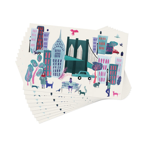 Collage City Paper Placemat - 30 Sheets
